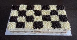 Black 'n White Checked Cheesecake