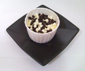 Dark 'n White Chocolate Miniature Cheesecake