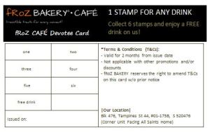 fRoZ BAKERY Devotee Card - Cafe