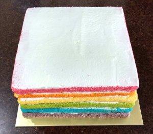Rainbow Layer Cake - Whole