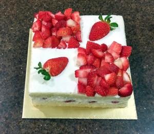 Strawberry Shortcake 15x15cm